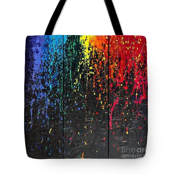 Tote Bag featuring the painting Reign Of Color by Annie Young Arts
