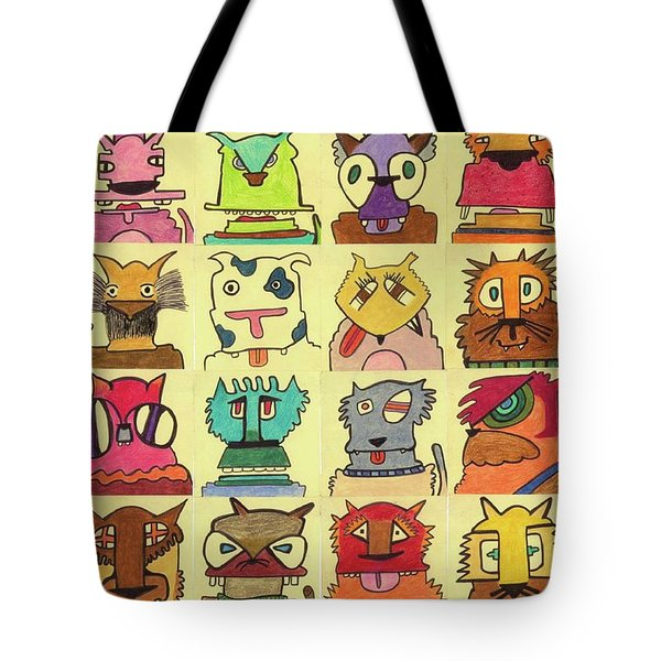 Reigning Cats And Dogs  Tote Bag