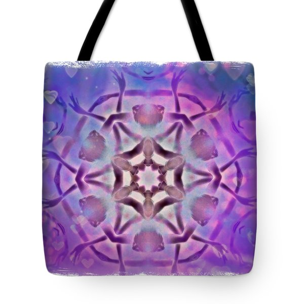 Reiki Infused Healing Hands Mandala Tote Bag