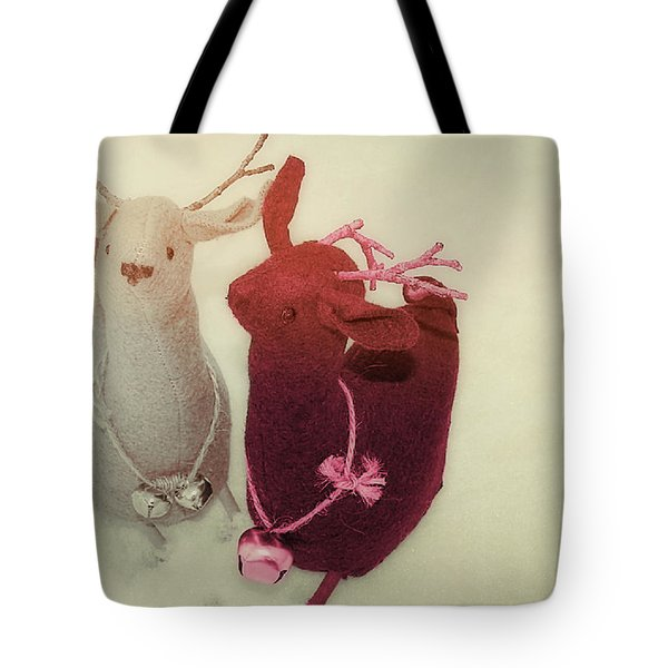 Reindeer Dash Tote Bag by JAMART Photography