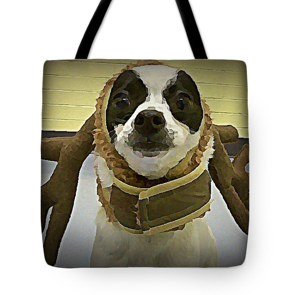 Reindeer Dog Tote Bag