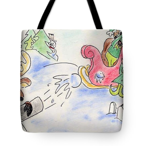Reindeer Games Tote Bag by Vonda Lawson-Rosa