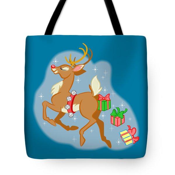 Tote Bag featuring the digital art Naughty Reindeer by J L Meadows
