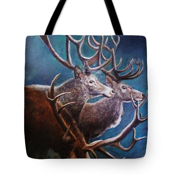 Reindeers Tote Bag