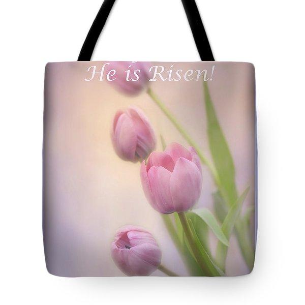 Tote Bag featuring the photograph Rejoice He Is Risen by Ann Bridges