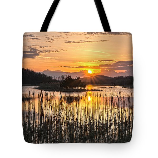 Rejoicing Easter Morning Skies Tote Bag