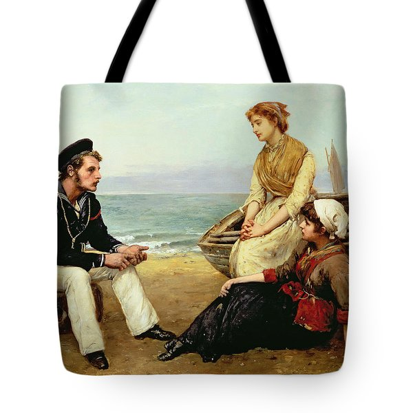 Relating His Adventures Tote Bag by William Oliver