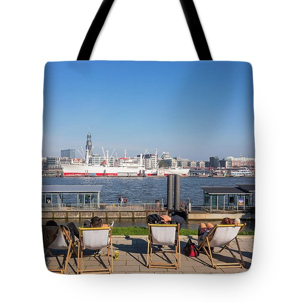 Relax On The Elbe Tote Bag