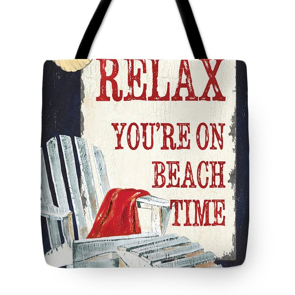Relax You're On Beach Time Tote Bag