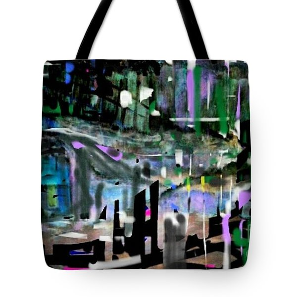 Relaxed Evening At The Pool Club Tote Bag