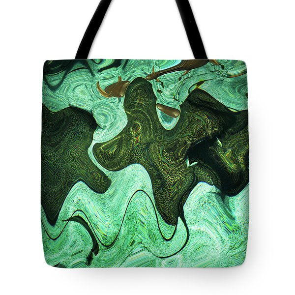 Tote Bag featuring the photograph Relaxing Abstract Of Rays And Sharks by Dennis Dame