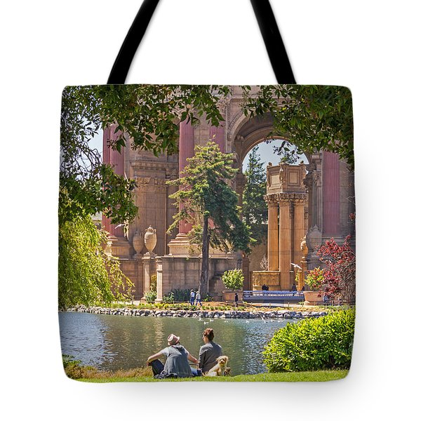 Relaxing At The Palace Tote Bag