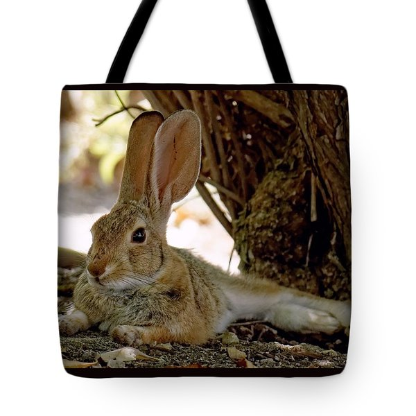Relaxing Cottontail Tote Bag
