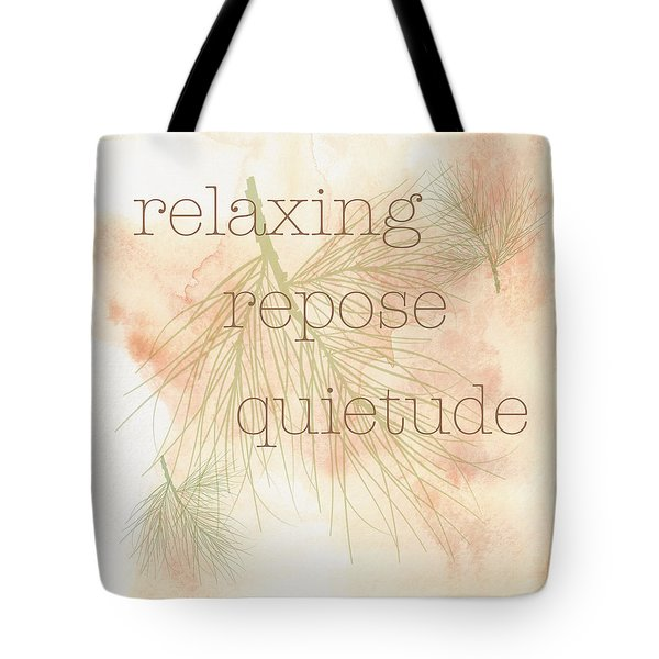 Relaxing Tote Bag by Kandy Hurley