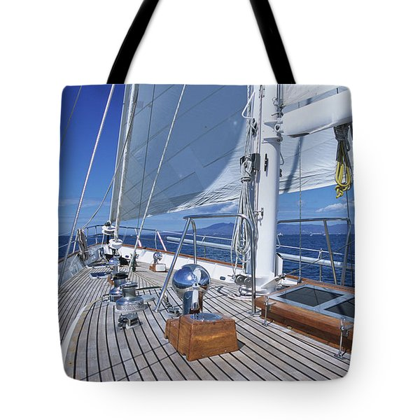 Relaxing On Deck Tote Bag
