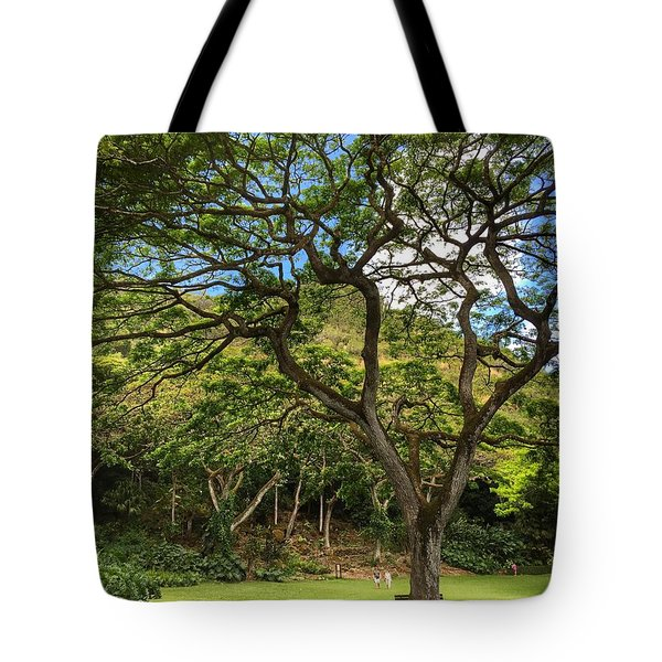 Relaxing Under The Tree Tote Bag