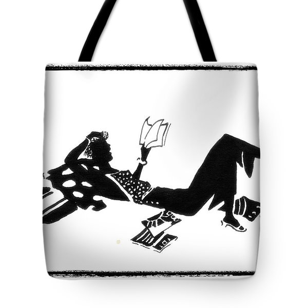 Relaxing With A Good Book Tote Bag