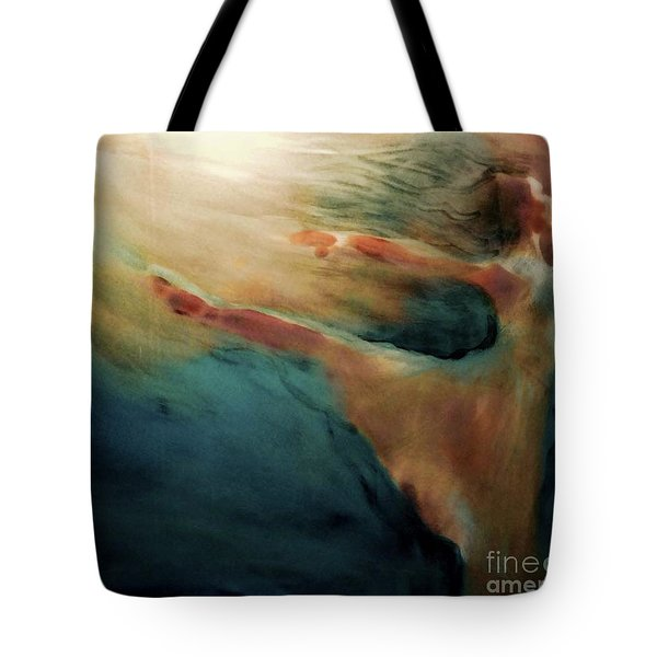 Tote Bag featuring the painting Releasing Of The Soul by FeatherStone Studio Julie A Miller