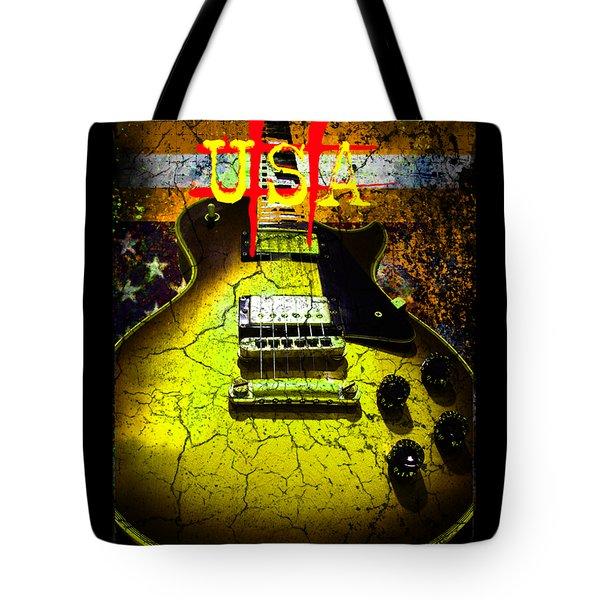 Relic Guitar Music Patriotic Usa Flag Tote Bag