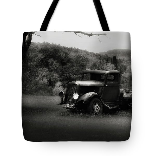 Tote Bag featuring the photograph Relic Truck by Bill Wakeley