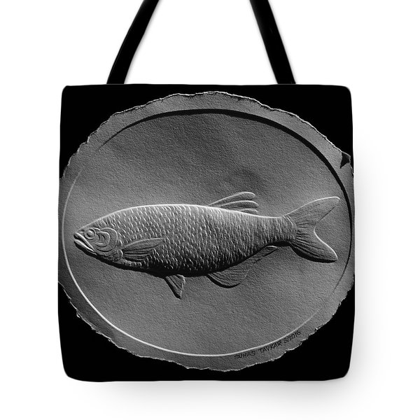 Relief Drawing Of A Freshwater Fish Tote Bag
