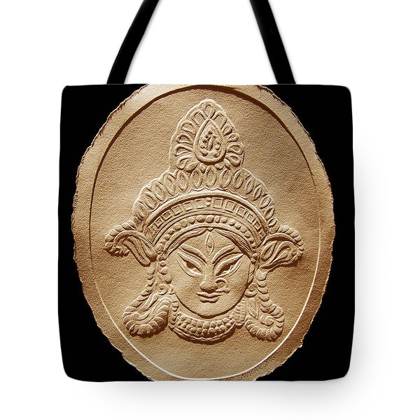 Relief Drawing Of Goddess Durga Devi  Tote Bag