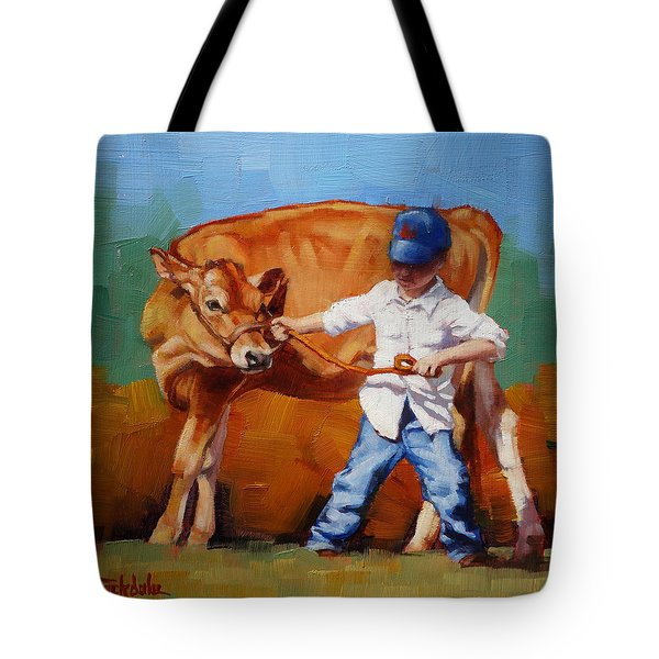 Reluctant Showgirl Tote Bag by Margaret Stockdale