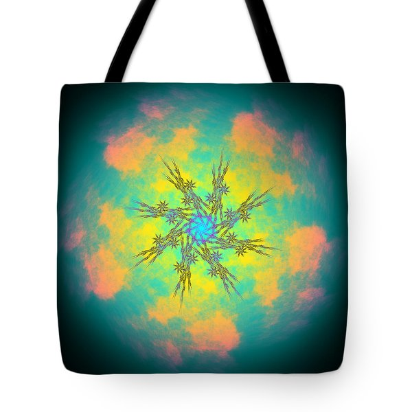 Tote Bag featuring the digital art Reluctured by Andrew Kotlinski