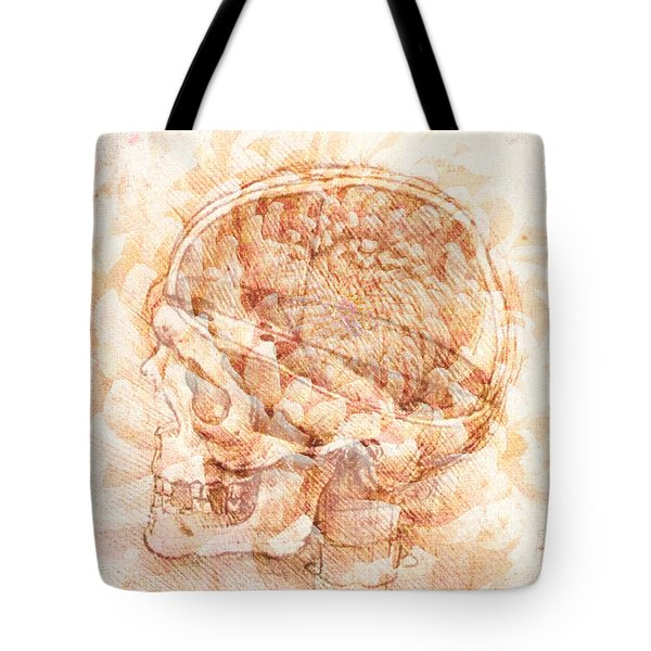 Rembrandt View Of A Skull With Mum Tote Bag