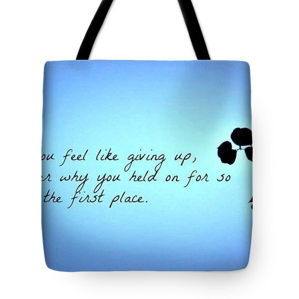 Tote Bag featuring the photograph Remember by Artists With Autism Inc