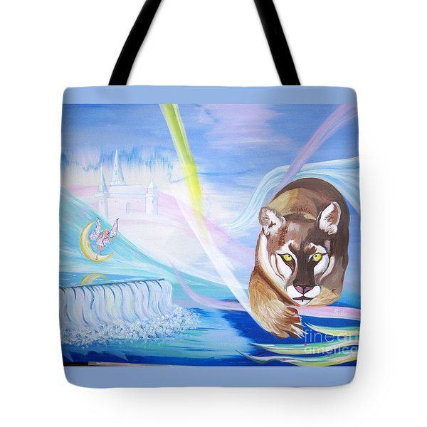 Tote Bag featuring the painting Remembering Childhood Dreams by Phyllis Kaltenbach