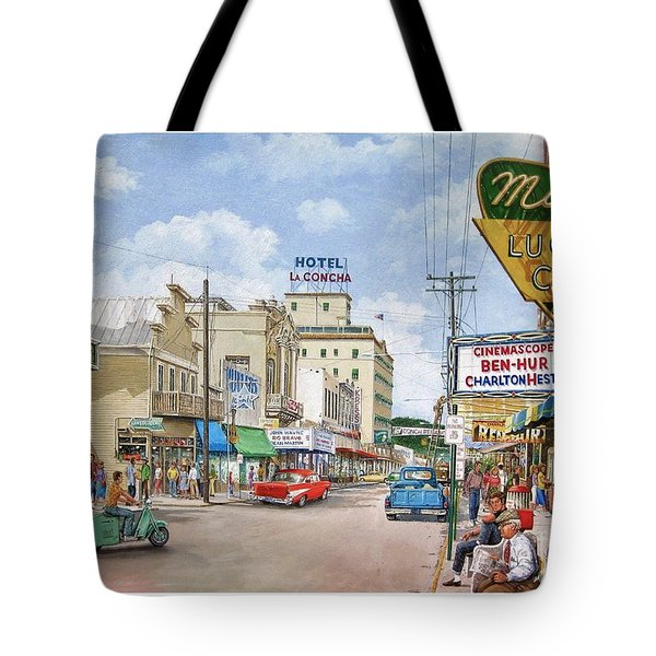 Tote Bag featuring the painting Remembering Duval St. by Bob George