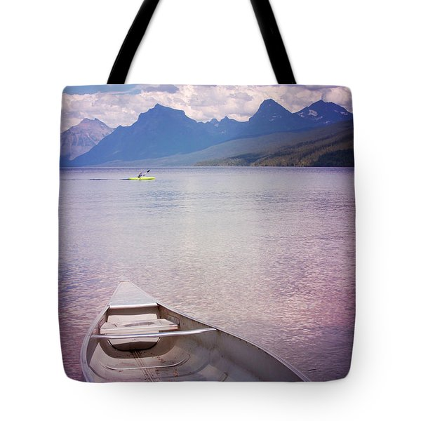 Tote Bag featuring the photograph Remembering Lake Mcdonald by Heidi Hermes
