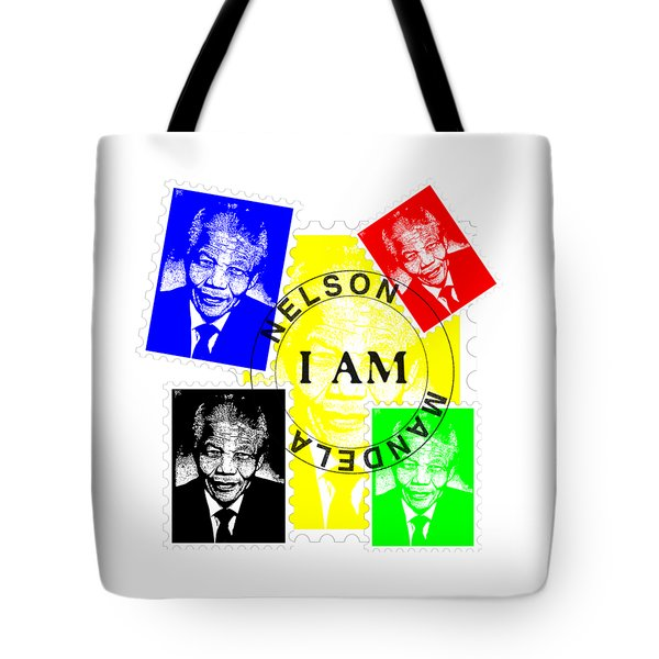 Tote Bag featuring the digital art Remembering Mandela by Saad Hasnain