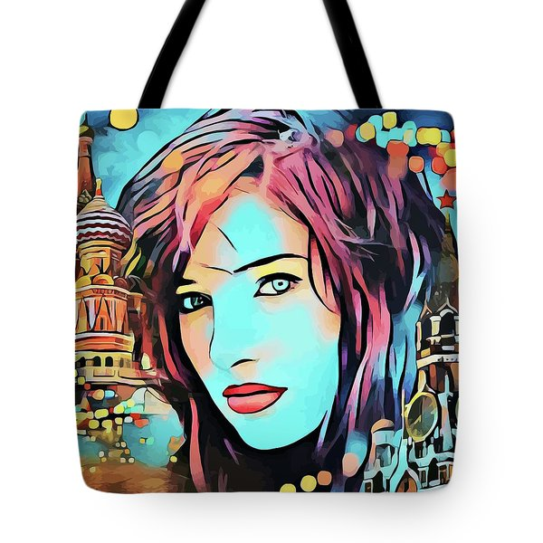 Remembering Moscow Russia Abstract Travel Vacation Art Tote Bag