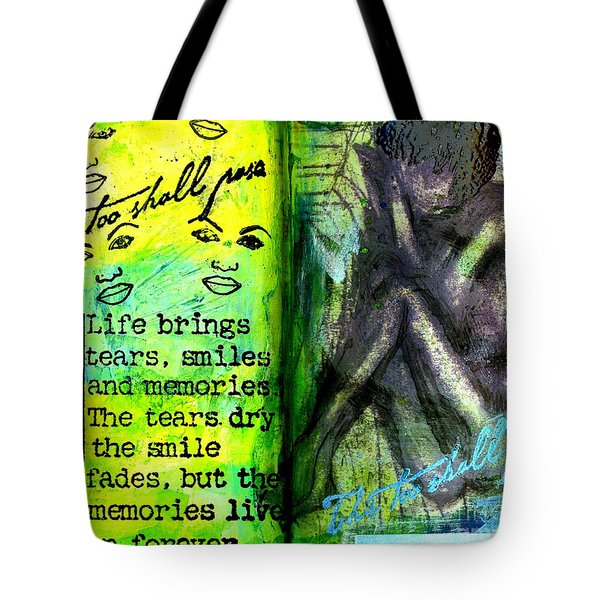Remembering My Son -  Art Journal Entry Tote Bag