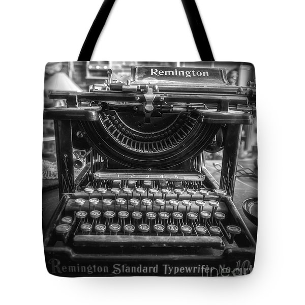 Tote Bag featuring the photograph Remington Standard Typewriter No. 10 by Bitter Buffalo Photography