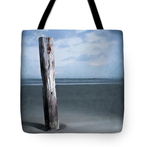 Tote Bag featuring the painting Remnant Of The Past On Outer Banks Ap by Dan Carmichael