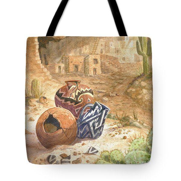 Tote Bag featuring the painting Remnants Of The Ancient Ones by Marilyn Smith