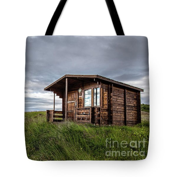Tote Bag featuring the photograph Remote Cabins Myvatn Iceland by Edward Fielding