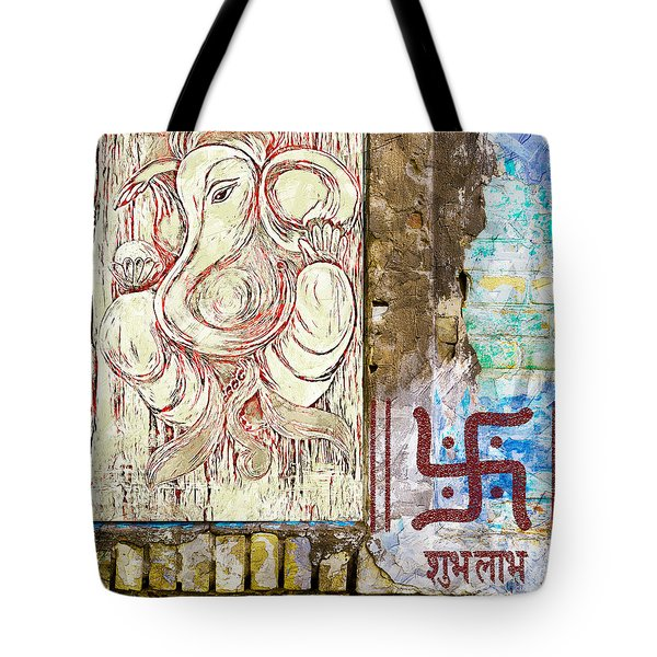 Tote Bag featuring the mixed media Remover Of Obstacles by Lita Kelley