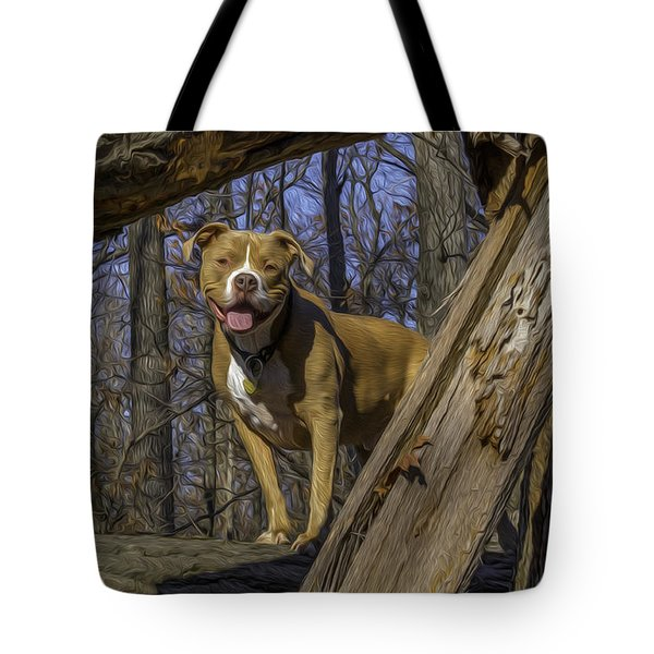 Remy In Tree Oil Paint More Pop Tote Bag