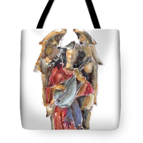 Renaissance Angel Tote Bag by Claudia Hafner