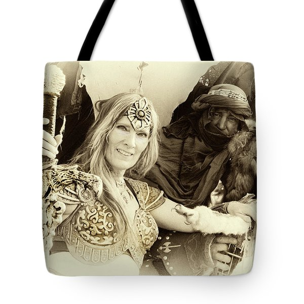 Tote Bag featuring the photograph Renaissance Festival Barbarians by Bob Christopher