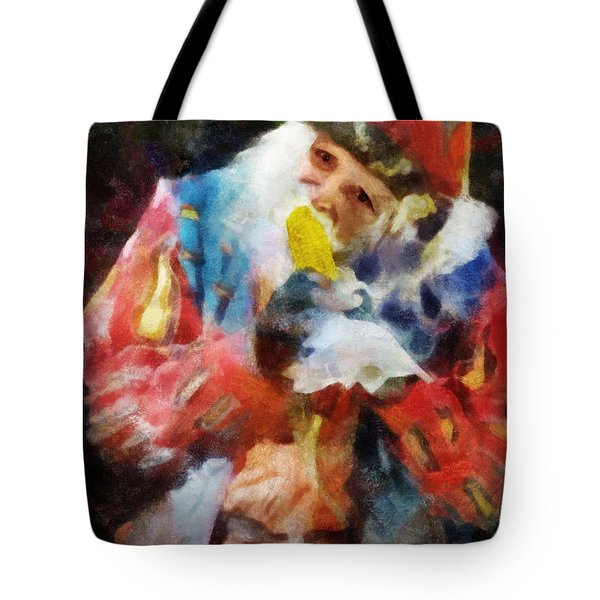 Tote Bag featuring the digital art Renaissance Man With Corn On The Cob by Francesa Miller