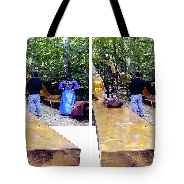 Tote Bag featuring the photograph Renaissance Slide - Gently Cross Your Eyes And Focus On The Middle Image by Brian Wallace