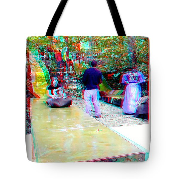 Tote Bag featuring the photograph Renaissance Slide - Red-cyan 3d Glasses Required by Brian Wallace