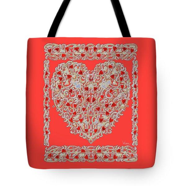 Renaissance Style Heart Tote Bag