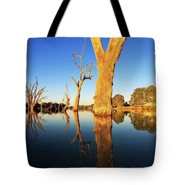Tote Bag featuring the photograph Renamrk Murray River South Australia by Bill Robinson
