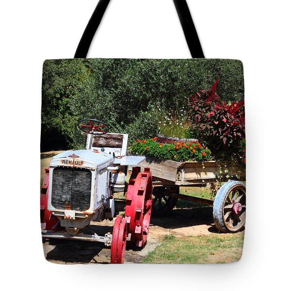 Renault Flower Bed Tote Bag by Richard Patmore